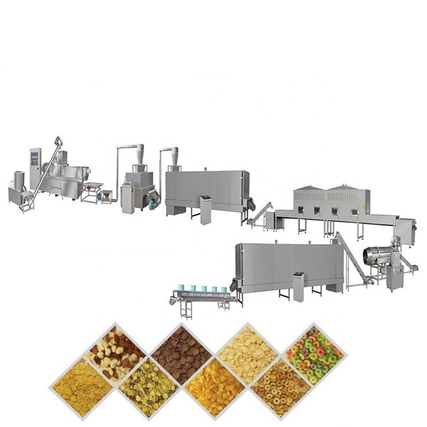 Corn Puffs Snacks Food Processing Machine to Make Corn Flakes