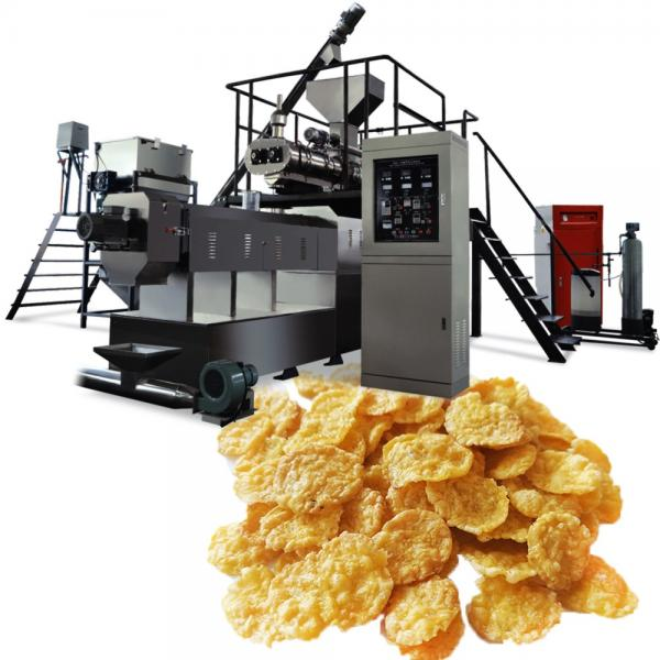 Ce ISO9001 Automatic Corn Flakes Production Machinery Puffed Cereals Breakfast Food Extrusion Line Bulking Expanding Equipment Processing Machine #1 image